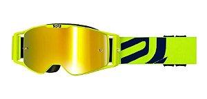 Oculos ASW A3 Giant Amarelo Fluor Azul