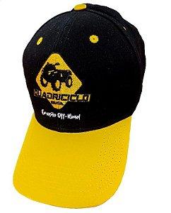 Boné Quadriciclo Brasil - Preto/Amarelo