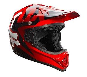 Capacete FOX VF1 Race - Vermelho
