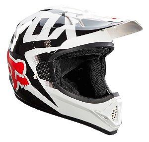 Capacete FOX VF1 Race - Branco