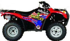 Kit Gráfico Honda Fourtrax 420 2007 até 2013 - Geico