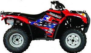Kit Gráfico Honda Fourtrax 420 2007 até 2013 - USA Race