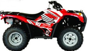 Kit Gráfico Honda Fourtrax 420 2007 até 2013 - Number 10