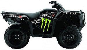 Kit Gráfico Honda Fourtrax 420 2014 até 2017 - Monster