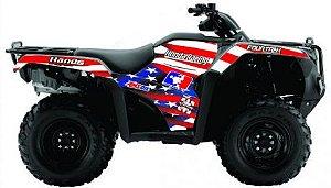 Kit Gráfico Honda Fourtrax 420 2014 até 2017 - USA Race