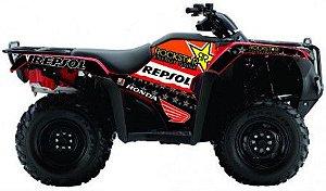 Kit Gráfico Honda Fourtrax 420 2014 até 2017 - Rockstar