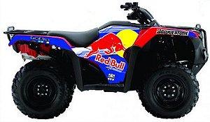 Kit Gráfico Honda Fourtrax 420 2014 até 2017 - RedBull Bridgestone