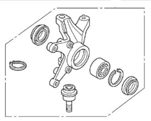 Kit Articulador Ponta do Eixo da Tração Dianteira Fourtrax 420 (2008 até 2013)