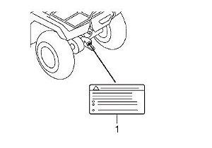 Adesivo de Alerta Reboque Original - Honda Fourtrax 420 2008 à 2019