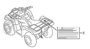 Adesivo de Alerta Bagageiro Traseiro - Honda Fourtrax 420 2008 à 2019