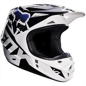 Capacete FOX V1 Race - Preto/Branco