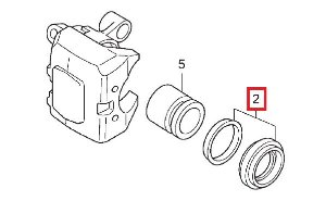 Jogo de Retentor do Pistão de Freio Dianteiro Honda Fourtrax 420 (2008 até 2018)