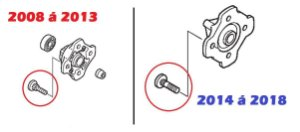 Parafuso do Disco Dianteiro 8x24 Honda Fourtrax 420 (2008 até 2019)