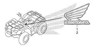 Adesivo Emblema Lado Direito do Tanque de Combustível - Fourtrax (2017 até 2019)
