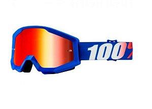 Óculos 100%  Lente Espelhada  -  Azul