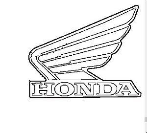 Adesivo Emblema Lado Esquerdo do Tanque de Combustível Tipo 2  - Fourtrax (2014 até 20)