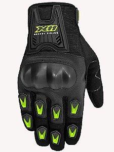 Luva X11 Blackout com Protetor - Preta com Neon