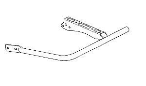 Suporte Completo do Pedal Apoio ESQUERDO Honda Fourtrax 420 (2014 até 2020)