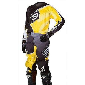 Conjunto ASW Race Juvenil - Amarelo