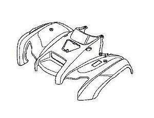 Carenagem Dianteira Honda Fourtrax 420 (2008 até 2013)