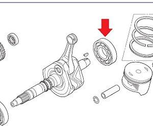 Rolamento Esferas Virabrequim Honda Fourtrax 420 (2012 até 2013)
