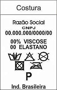 1000 Etiquetas em Nylon Resinado Personalizadas