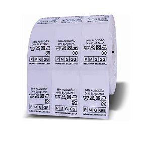 Etiquetas de Composição  Nylon Resinado Tamanhos Personalizadas para Roupas