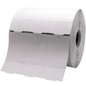 Etiqueta TAG , Cartão, 35x60mm com 03 Colunas e Picote, p/ Roupa, Confecção, Artesanato, Artigo Textil e Outros.