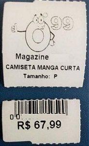 500 Etiquetas Tag Cartão, Já Impressas, P/ Roupas, Confecção