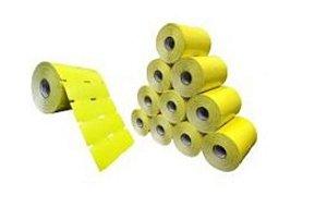 10 Rolos Etiquetas para Gôndolas 100x30mm Amarela - Impressora Argox e Elgin