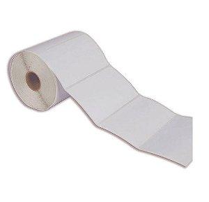 Etiqueta Adesiva Couche, 100x60 mm, Branca, 1 coluna, Para Impressoras Código de Barras: Zebra, Argox, Elgin e Outras c/ Ribbon (Fita).