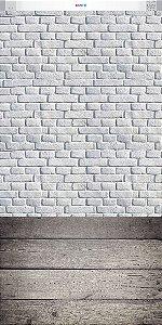 Tijolo Branco e Madeira ( 1,50 x 3,00 metros)