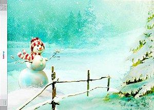 Fundo Fotografico Boneco de Neve 05 (1,50 x 2,10 metros horizontal)