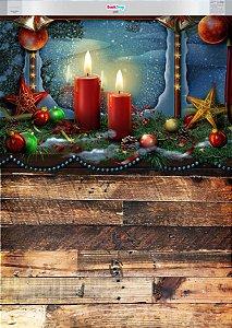 Fundo Fotográfico Flex - Cena de Natal 02 (Duas opções para escolher)