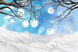 Fundo Fotografico Neve de Natal 02 (1,50 x 2,10 metros)