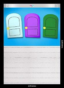 Fundo Fotografico - Cartoon Doors (2,10 x 1,50m. Fundo e Piso juntos)