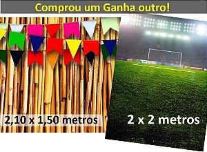 Fundo Fotografico - Bambu Amarelo + Futebol