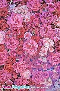 Fundo Fotografico - Primavera (Rosas 2) - 2,10 x 1,50 metros