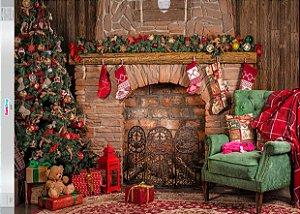 Fundo Fotografico - Bela Árvore de Natal (2 medidas para escolher)