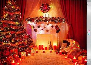 Fundo Fotografico - Bela Árvore de Natal 02 (2 medidas para escolher)