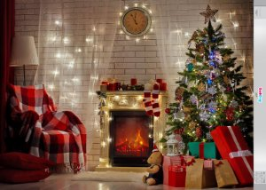 Fundo Fotografico - Bela Árvore de Natal 03 (2 medidas para escolher)