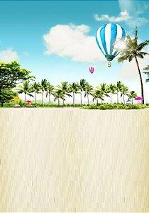 Fundo Fotografico - Beach Ballon (2,10 x 1,50 metros)