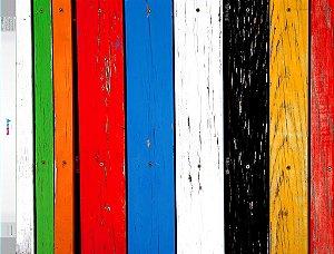 Fundo Fotografico - Madeira Colorida (1,50 x 2,10 metros)