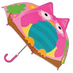 Guarda-chuva infantil 3D Coruja Stephen Joseph