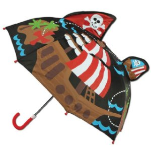 Guarda-chuva infantil 3D Pirata Stephen Joseph