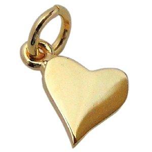 Pingente Infantil Coração - Prata Banhado a Ouro 18K - Aureca