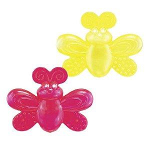 Mordedores com água Borboleta Sassy Vermelho e Amarelo