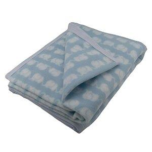 Manta para Bebê Soft Elefante Azul - Zip Toys