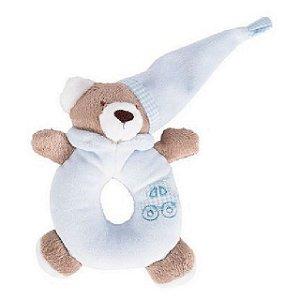 Chocalho Urso Nino Azul - Zip Toys