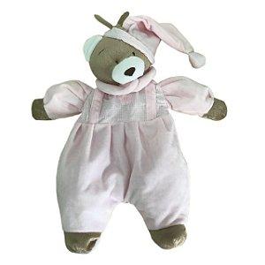 Porta Pijama Urso Nino Rosa - Zip Toys